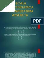 Escala Termodinamca de Temperatura Absoluta