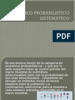 Muestreo Probabilistico Sistematico Bioestadistica