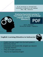 Employing Experiential Learning To Teach Writing For English As A Foreign Language Learners Through A Reflection Project.pptx