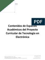 Contenidos Programaticos Tecnología en Electrónica
