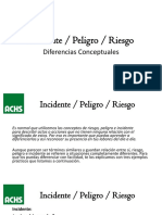 Incidente, Riesgo, Peligro