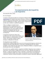ConJur - Alexandre rejeita arquivamento de inquérito sobre ameaças ao STF.pdf