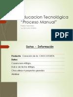 Educacion Tecnológica. Chocotorta