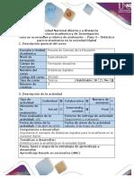 Guía de actividades y rúbrica de evaluación. Unidad 3. Paso 4. Didáctica para la enseñanza en la sociedad Digital.pdf
