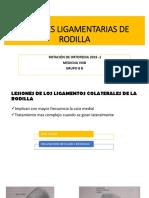 Lesiones Ligamentarias de La Rodilla