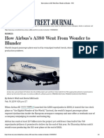 How Airbus's A380 Went From Wonder to Blunder - WSJ.pdf