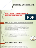 Role of commercial banks in agricultural development.