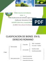 Clasificacion de Bienes en El Derecho Romano y