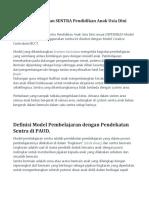 Model Pembelajaran SENTRA Pendidikan Anak Usia Dini.pdf