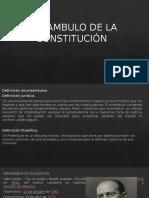 PREAMBULO COSTITUCION BOLIVIANA