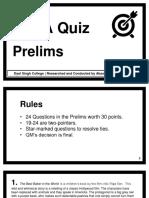 Akash Verma MELA Quiz Prelims