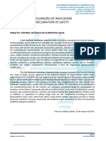 DECLARAÇÃO DE USO DE PRODUTO APROVADO PARA USO ALIMENTÍCIO COMO COMPONENTE DO SN.docx