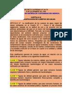 CLASES DE AGUAS Regl de Contamin Hídrica SILEG.doc