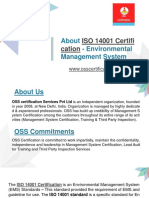 Best ISO 14001 Certification in India -  OSS Certification