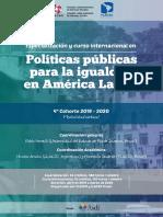 4 Cohorte Curso Especializacion Politicas Publicas Para La Igualdad