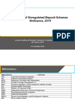 Banning of Unregulated Deposit-CA Sandeep Shah