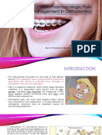 Non-Pharmacologic Pain Management in Orthodontics