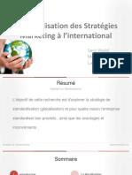 Stratégie de standardisation