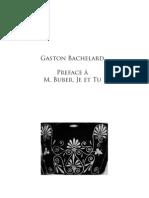 Bachelard G., Preface à M. Buber, Je et Tu