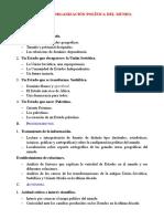 15. La Nueva Organización Política
