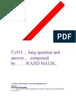 CS101 SHORT AND LONG QUESTIONS SOLVED...by wajid malik.pdf