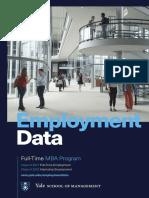 Yale SOM Employment Data 2017-18