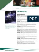 Metalworking Sheet