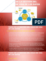 Fases de gestion del ciclo de via de los datos