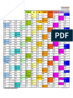 2019 Calendar Landscape in Color Doc