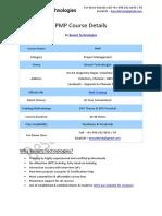 Pmp Besant Technologies Course Syllabus