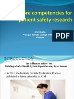 Patient Safety Research- susila billroth