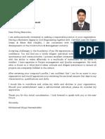 2 Hameed Covering Letter CV