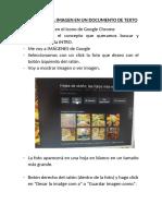 Insertar Una Imagen en Un Documento de Texto