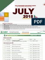 Training Calendar July 2018