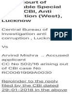 In the Court of Honorable Special Judge CBI, Anti Corruption (West), Lucknow