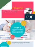 Google in management world