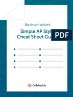 AP Style Cheat Sheet