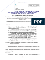Important Role of ICT in Library and Information Science Education With Special Reference to Dr. C.v. Raman University Kota Bilaspur -A Case Study