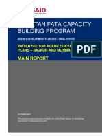 Water Sector Agency Development Plans - Bajaur and Mohmand Agencies
