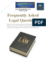 Frequently Asked Legal Questions