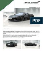 McLaren 570S COUPE Order Summary
