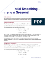 Exponential Smoothing-Trend and Seasonal