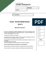 Geipi Sujet Mathematiques 2017