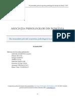 recomadari privind expertiza psihologica