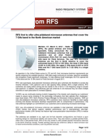 Rfs First to Offer Ultra-wideband Microwave Antennas That Cover the 7 Ghz Band to the North American Market (1)
