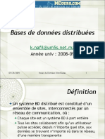 Bases de Donnees Distribuees