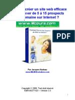 Comment Creer Un Site Web Efficace Pour Trouver de 5 a 15 Prospects Par Semaine Sur Internet