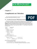 Chapitre 5 Complements Sur l Iteration Java