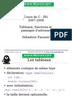 C Tableaux Fonctions Et Passages d Adresses