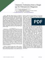 Femur Bone Volumetric Estimation From a Single2006